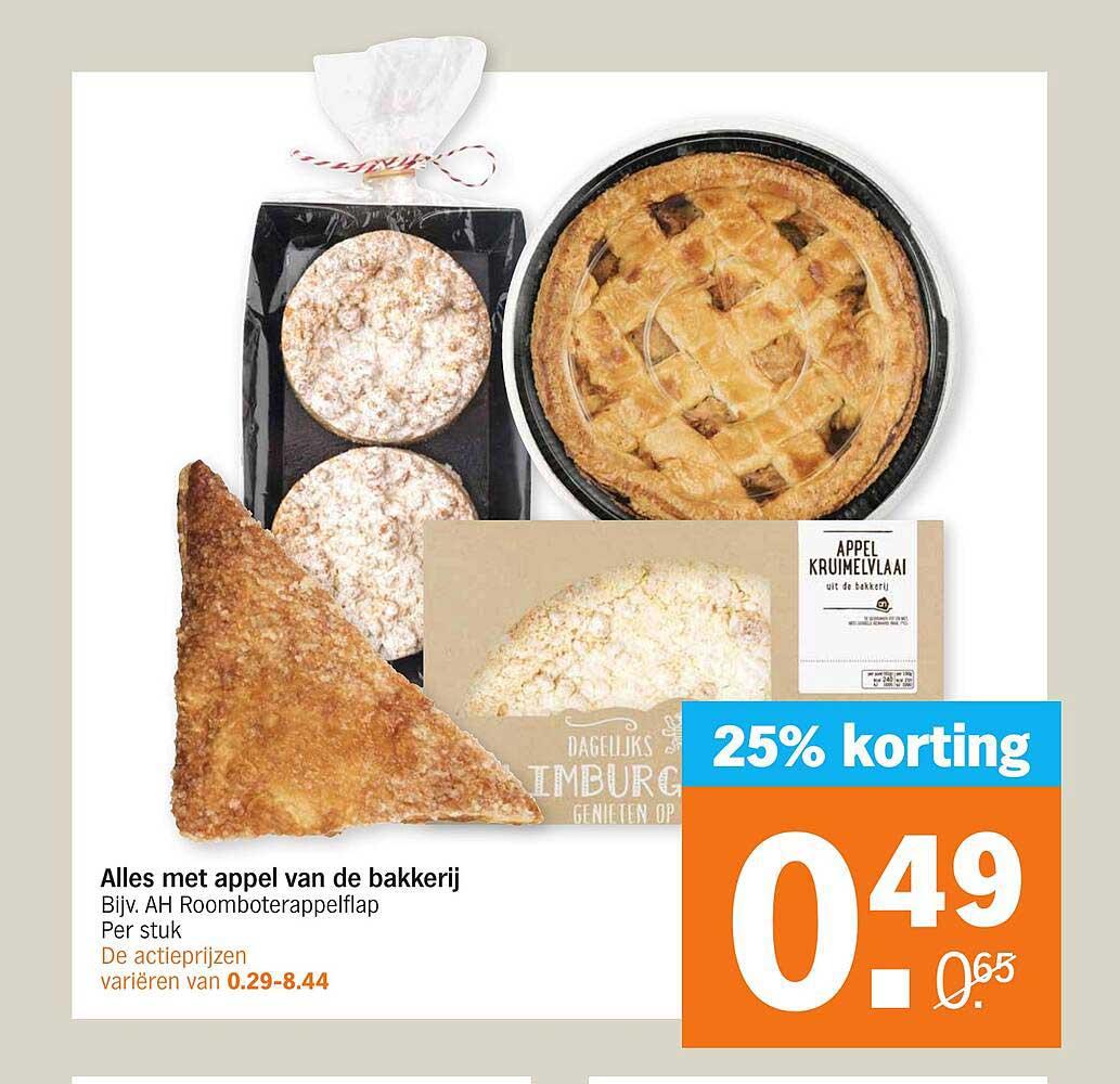 Albert Heijn Alles Met Appel Van De Bekkerij 25% Korting