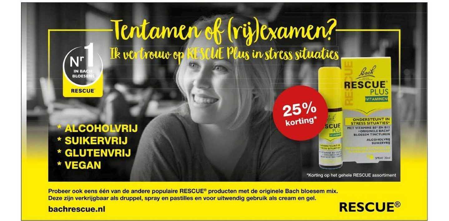Rode Pilaren Bach Rescue Plus Vitaminen 25% Korting
