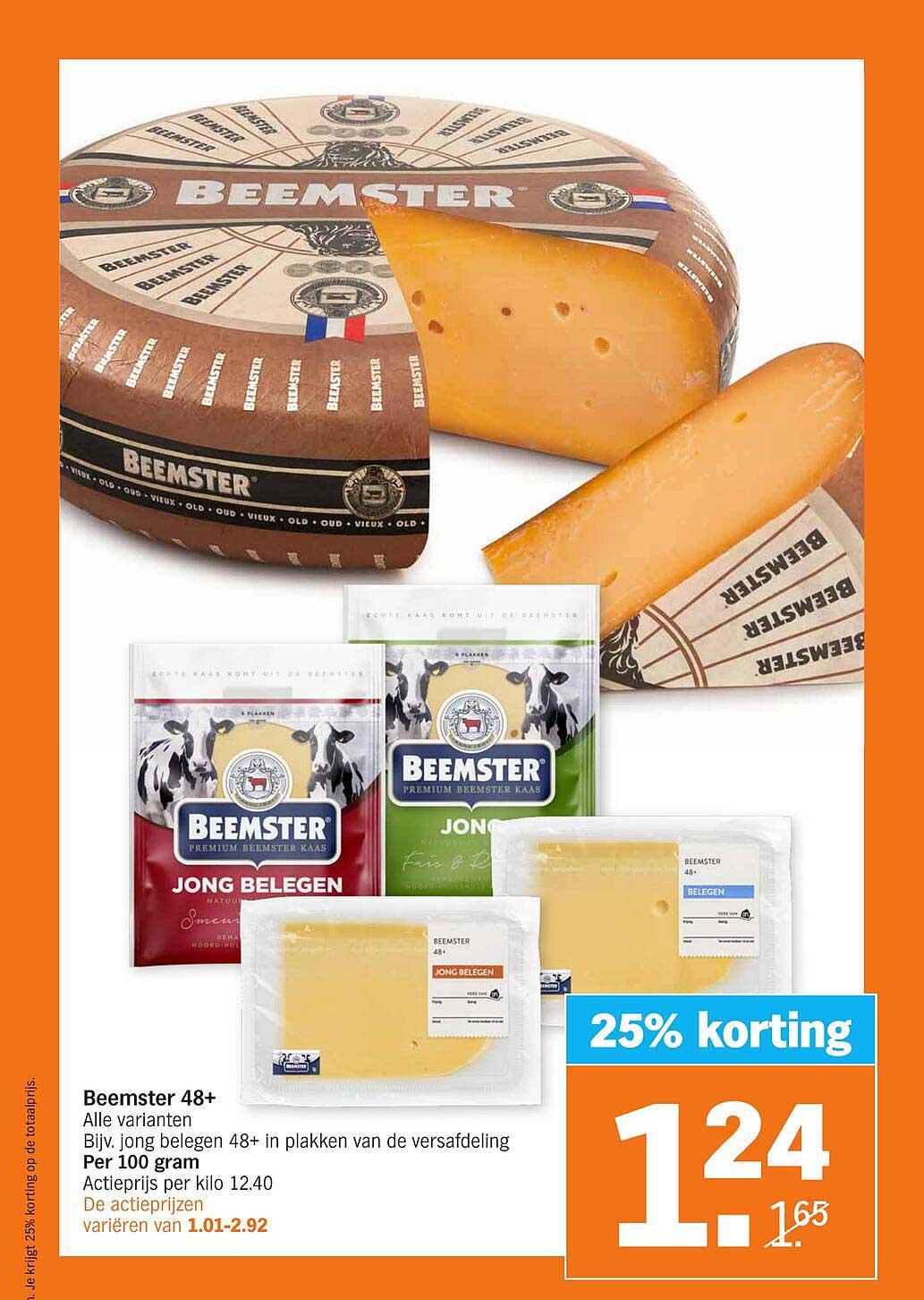 Albert Heijn Beemster 48+ 25% Korting