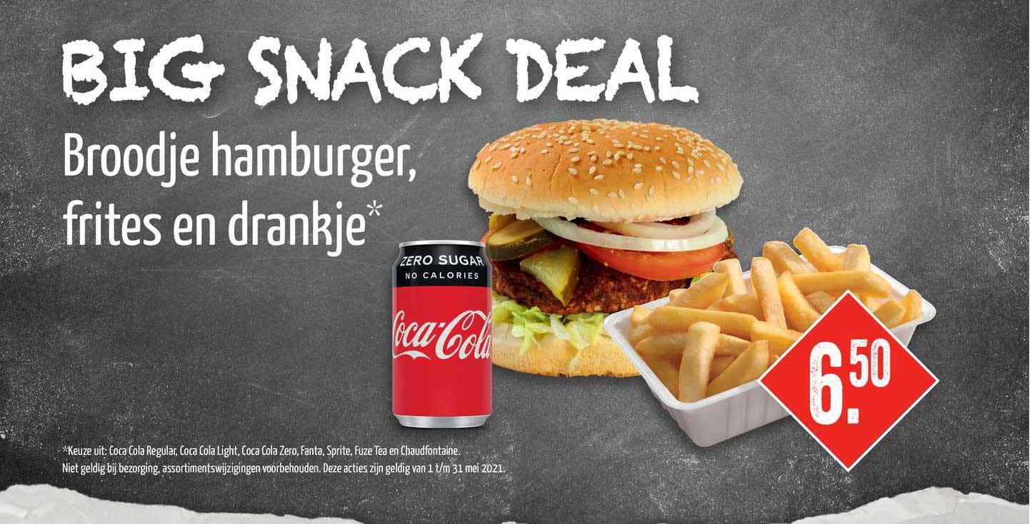 Big Snack Broodje Hamburger, Frites En Drankje