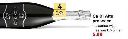 Hoogvliet Ca Di Alte Prosecco Italiaanse Wijn
