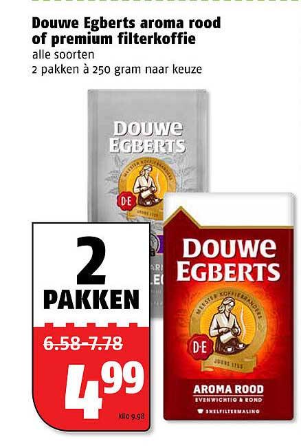 Poiesz Douwe Egberts Aroma Rood Of Premium Filterkoffie