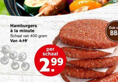 Hoogvliet Hamburgers à La Minute