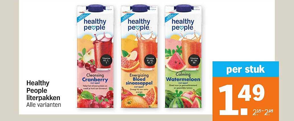 Albert Heijn Healthy People Literpakken
