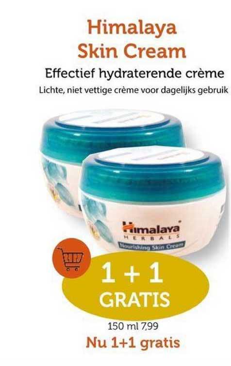 Rode Pilaren Himalaya Skin Cream 1+1 Gratis