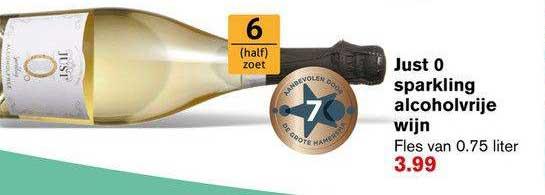 Hoogvliet Just 0 Sparkling Alcoholvrije Wijn