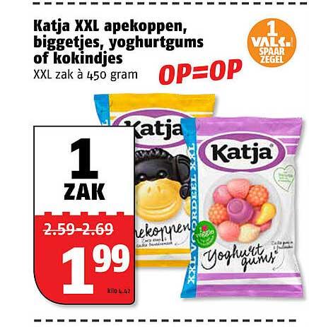 Poiesz Katja XXL Apekoppen, Biggetjes, Yoghurtgums Of Kokindjes