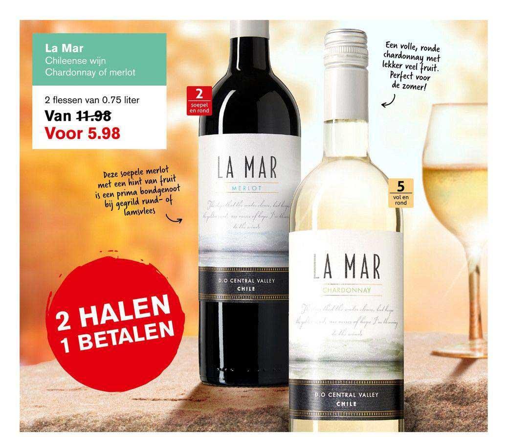 Hoogvliet La Mar Chileense Wijn Chardonnay Of Merlot