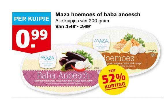 Hoogvliet Maza Hoemoes Of Baba Anoesch