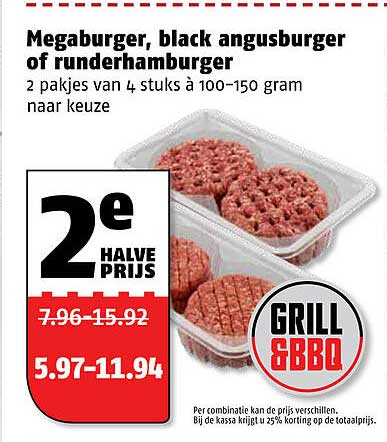 Poiesz Megaburger, Black Angusburger Of Runderhamburger