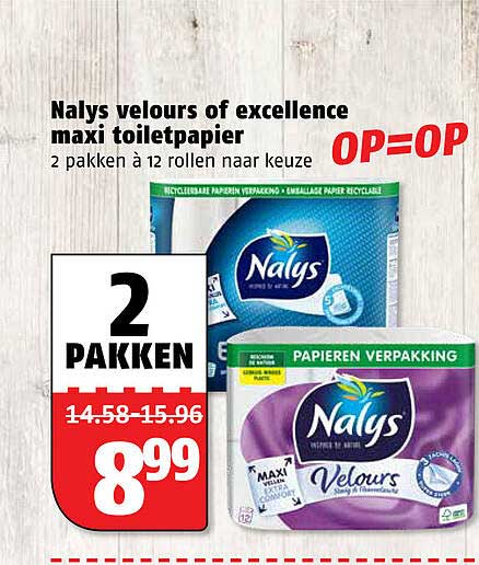 Poiesz Nalys Velours Of Excellence Maxi Toiletpapier
