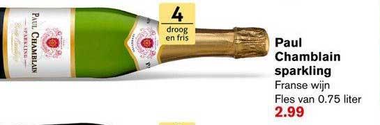 Hoogvliet Paul Chamblain Sparkling Franse Wijn