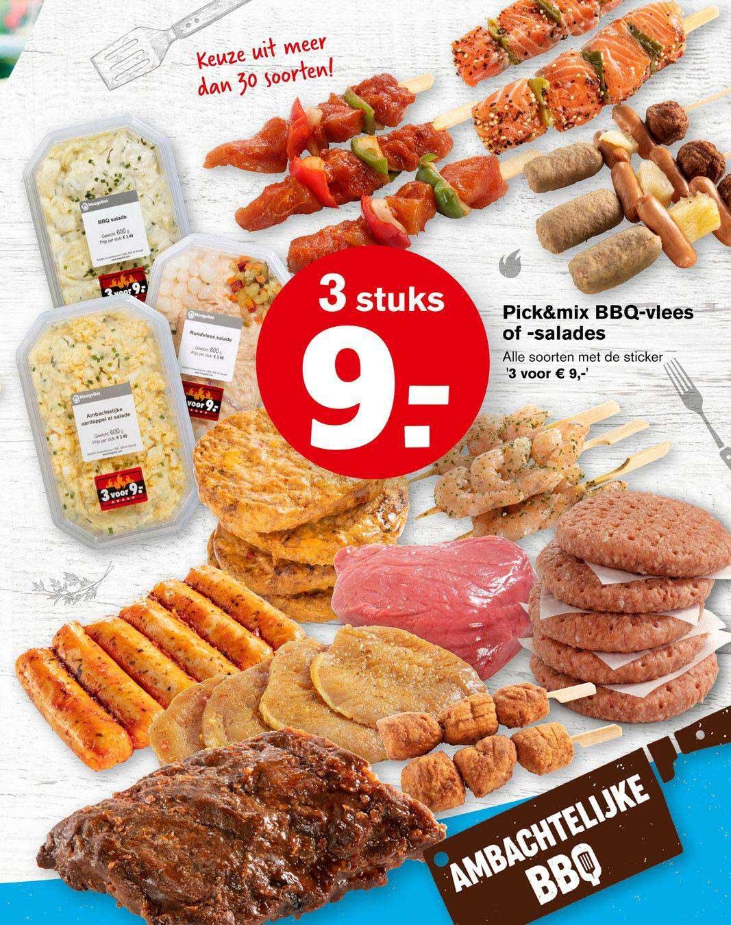 Hoogvliet Pick&Mix BBQ-Vlees Of -Salades