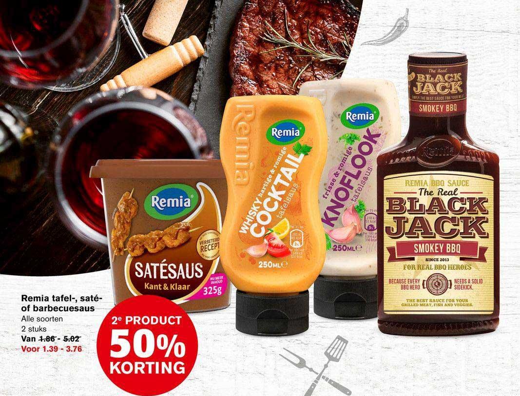 Hoogvliet Remia Tafel-, Saté- Of Barbecuesaus 2e Product 50% Korting