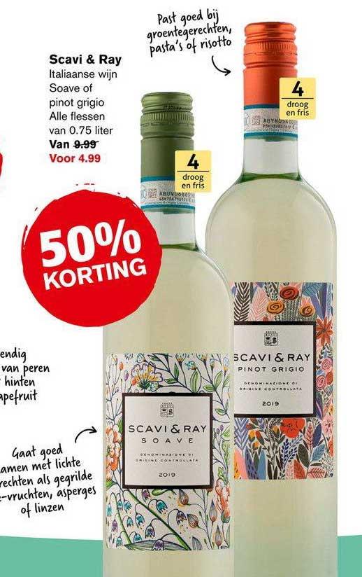 Hoogvliet Scavi & Ray Italiaanse Wijn Soave Of Pinot Grigio 50% Korting