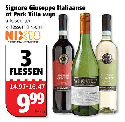 Poiesz Signore Giuseppe Italiaanse Of Park Villa Wijn