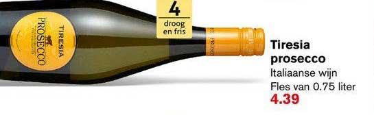 Hoogvliet Tiresia Prosecco Italiaanse Wijn