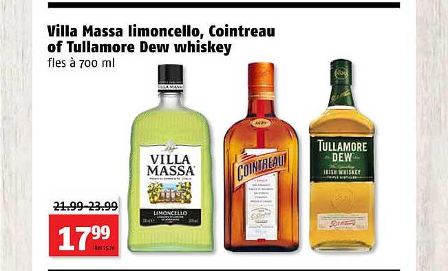Poiesz Villa Massa Limoncello, Cointreau Of Tullamore Dew Whiskey