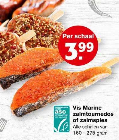 Hoogvliet Vis Marine Zalmtournedos Of Zalmspies