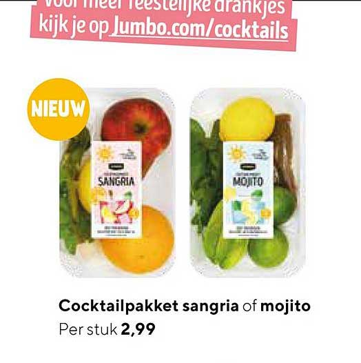 Jumbo Cocktailpakket Sangria Of Mojito