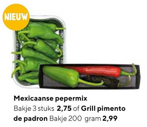 Jumbo Mexicaanse Pepermix Of Grill Pimento De Padron