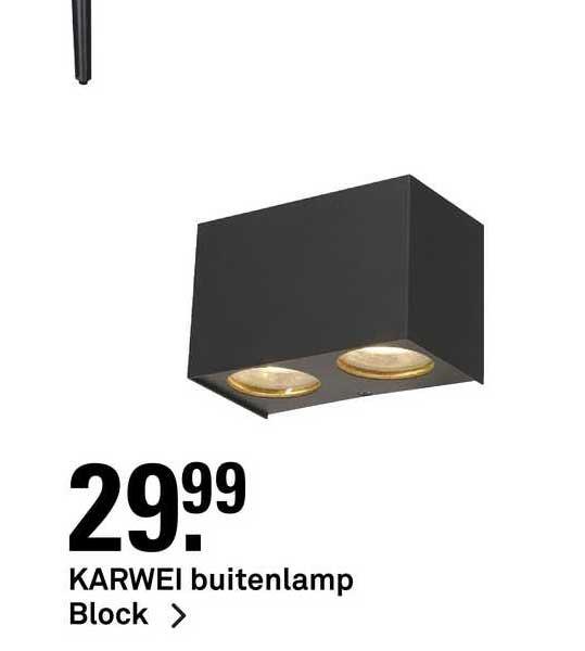 Karwei Karwei Buitenlamp Block