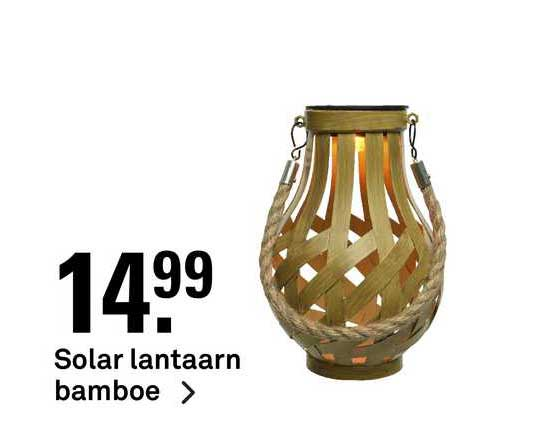 Karwei Solar Lantaarn Bamboe