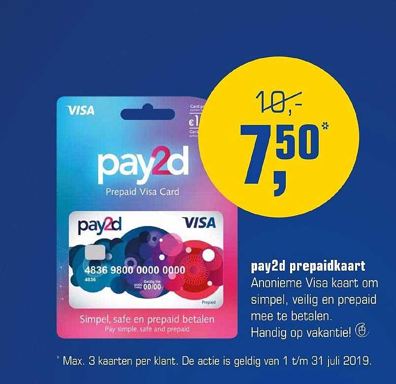 Primera Pay2d Prepaidkaart