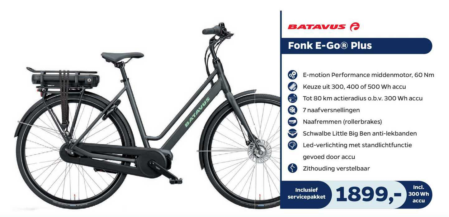 Bike Totaal Batavus Fonk E-Go® Plus Fiets
