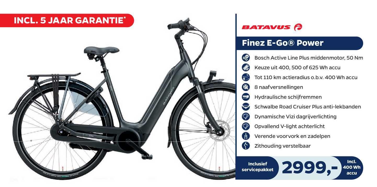 Bike Totaal BBatavus Finez E-Go® Power Fiets