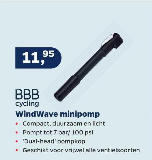 Bike Totaal BBB Cycling Windwave Minipomp