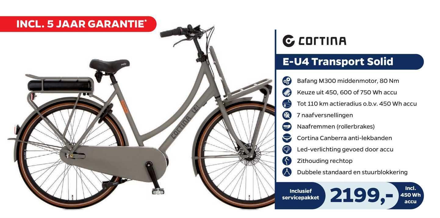Bike Totaal Cortina E-U4 Transport Solid