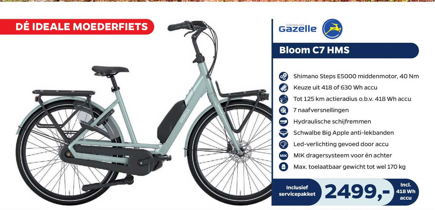 Bike Totaal Gazelle Bloom C7 HMS Fiets