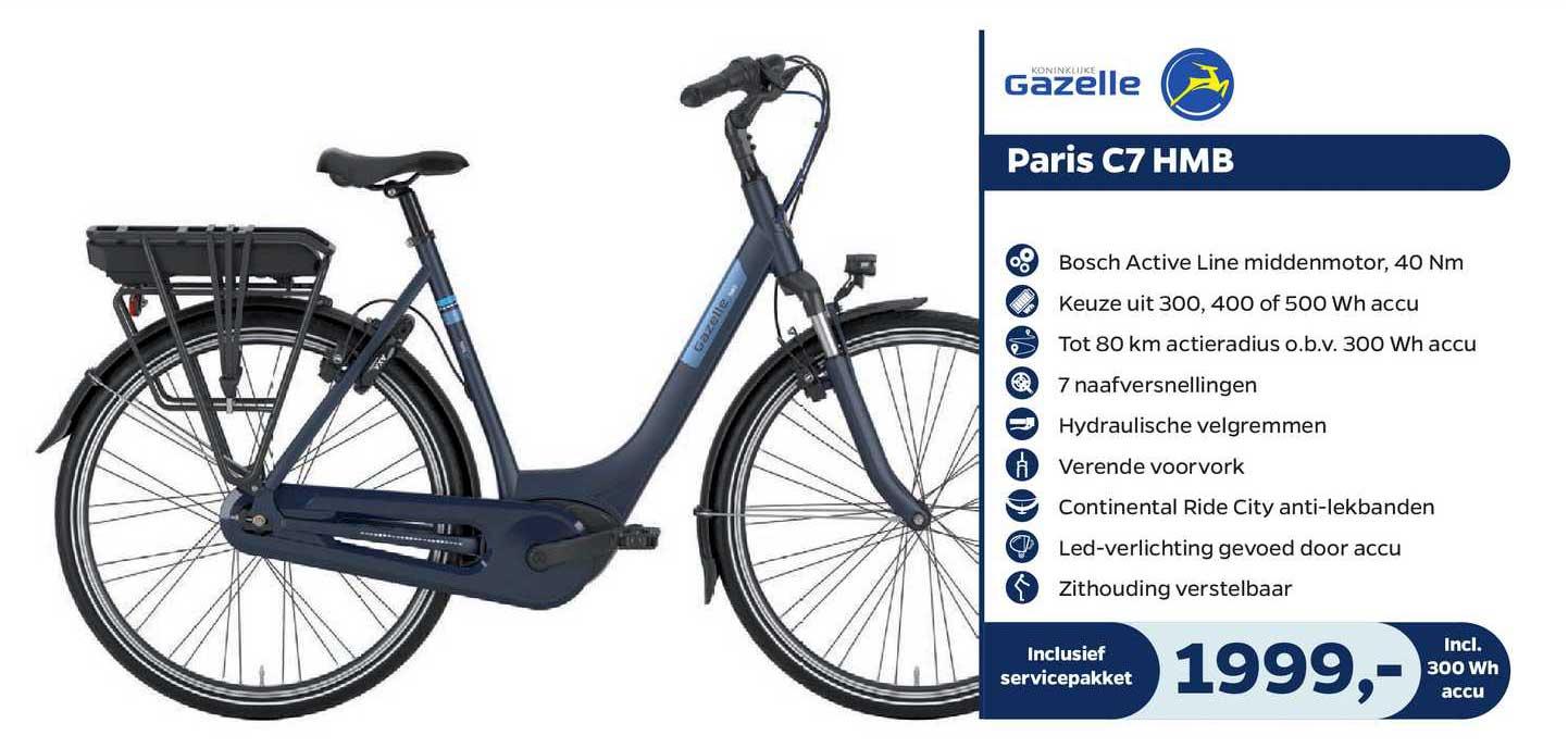 Bike Totaal Gazelle Paris C7 HMB Fiets