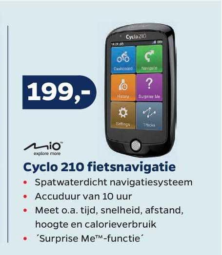 Bike Totaal Mio Cyclo 210 Fietsnavigatie
