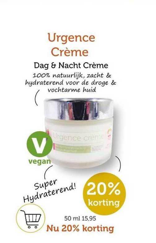 Rode Pilaren Urgence Crème Dag & Nacht Crème 20% Korting