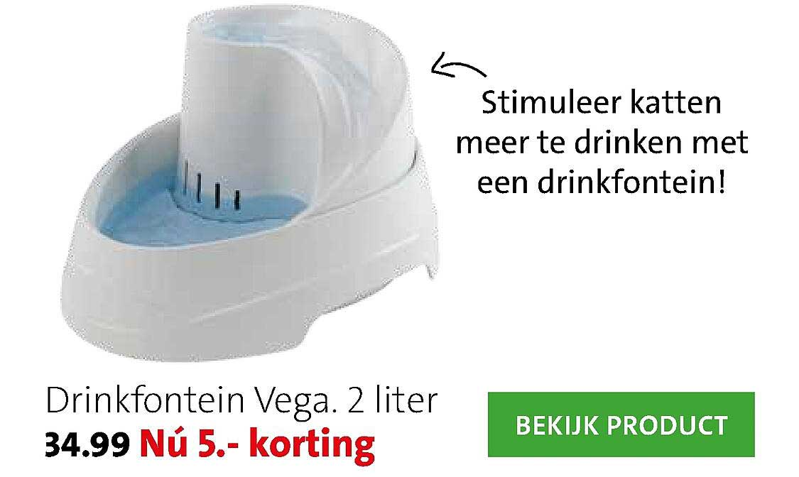Intratuin Drinkfontein Vega 2 Liter 5.- Korting