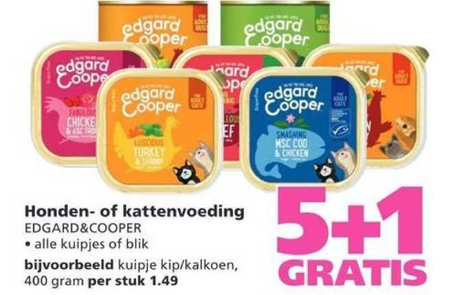 Ranzijn Tuin & Dier Honden- Of Kattenvoeding Edgard&Cooper 5+1 Gratis