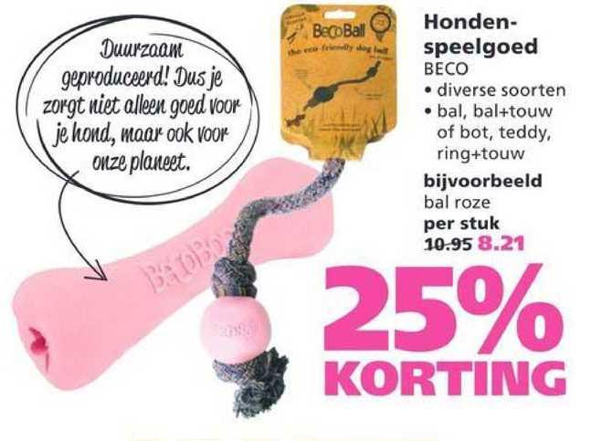 Ranzijn Tuin & Dier Hondenspeelgoed Beco 25% Korting