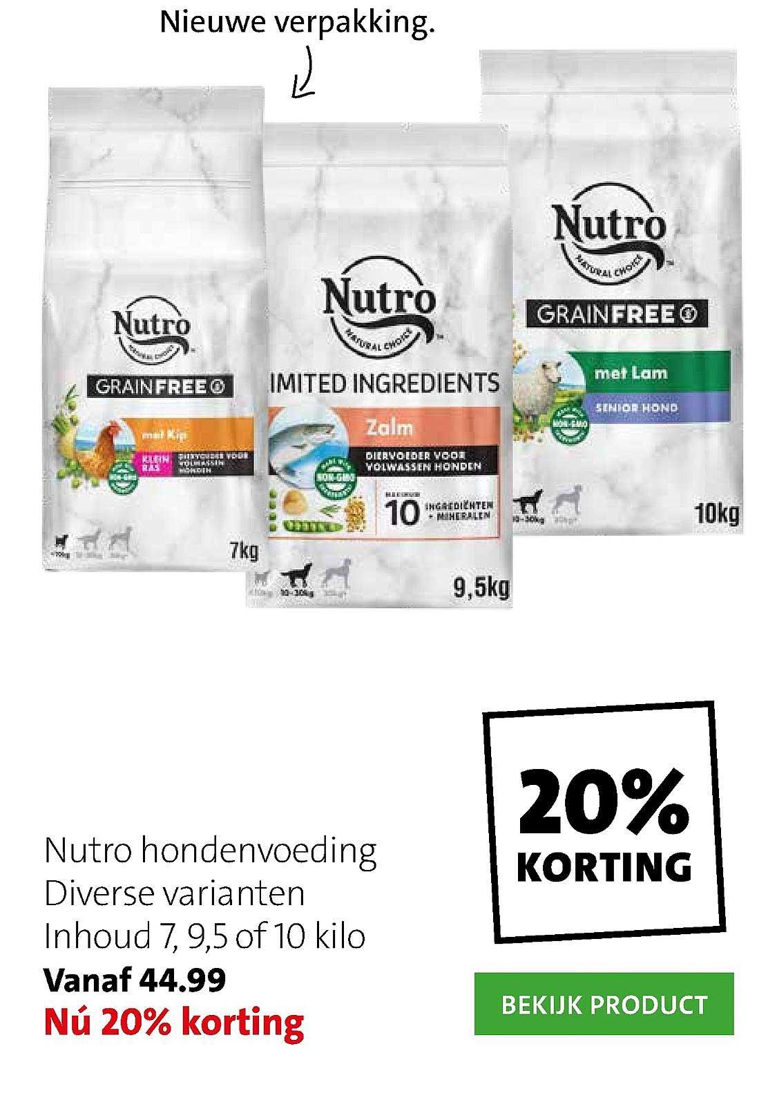 Intratuin Nutro Hondenvoeding 20% Korting