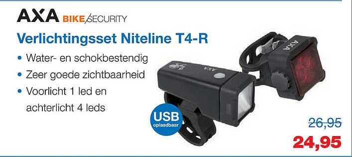 Profile De Fietsspecialist Axa Bike Security Verlichtingsset Niteline T4-R