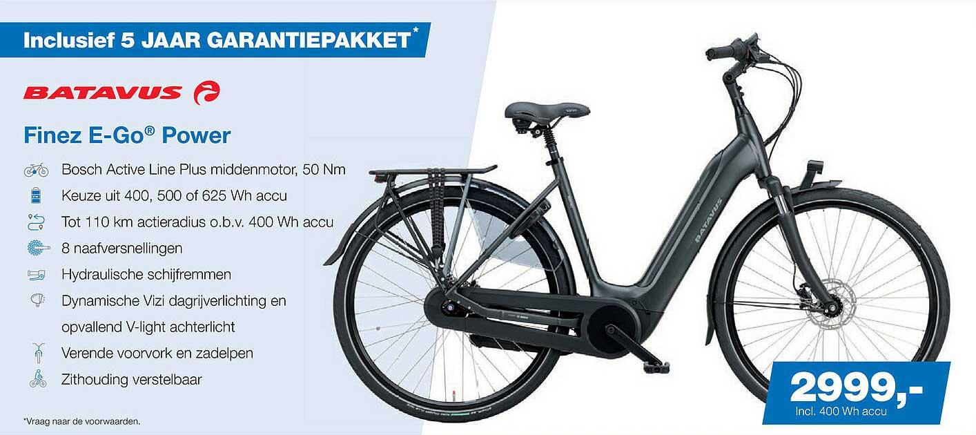 Profile De Fietsspecialist Batavus Finez E-Go® Power Fiets
