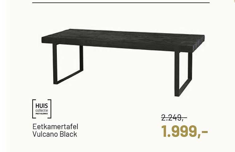 Piet Klerkx Huis Collectie Eetkamertafel Vulcano Black