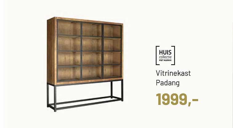 Piet Klerkx Huis Collectie Vitrinekast Padang