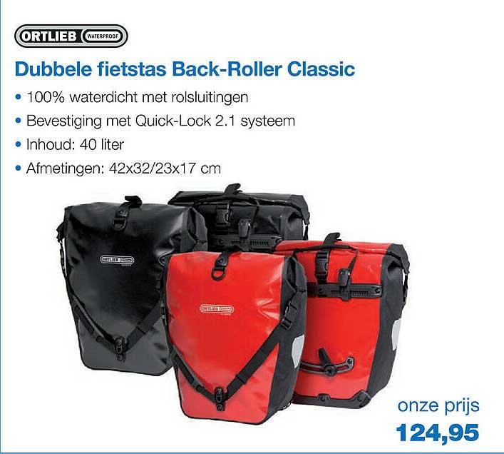 Profile De Fietsspecialist Ortlieb Dubbele Fietstas Back-Roller Classic