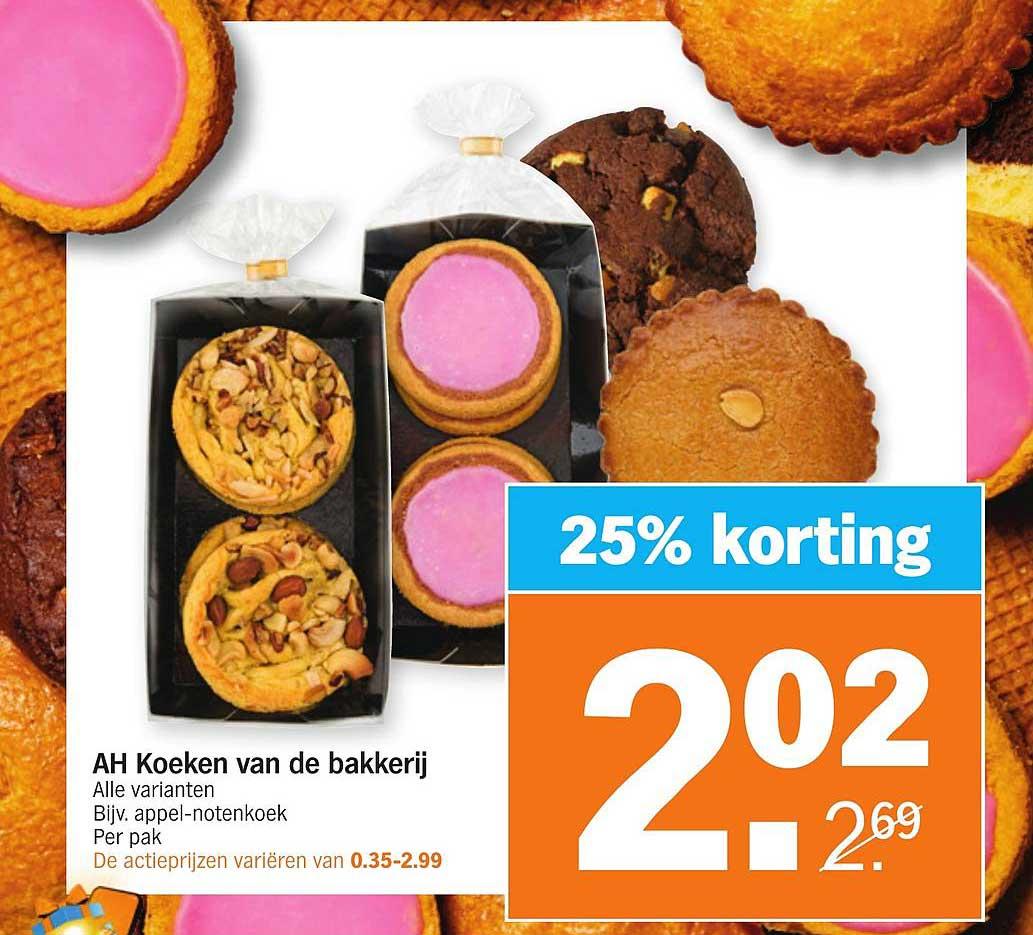 Albert Heijn AH Koeken Van De Bakkerij 25% Korting