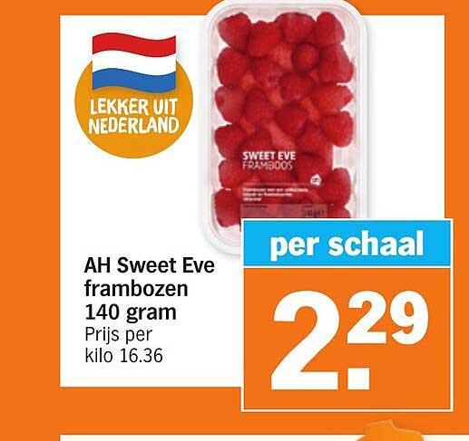 Albert Heijn AH Sweet Eve Frambozen 140 Gram
