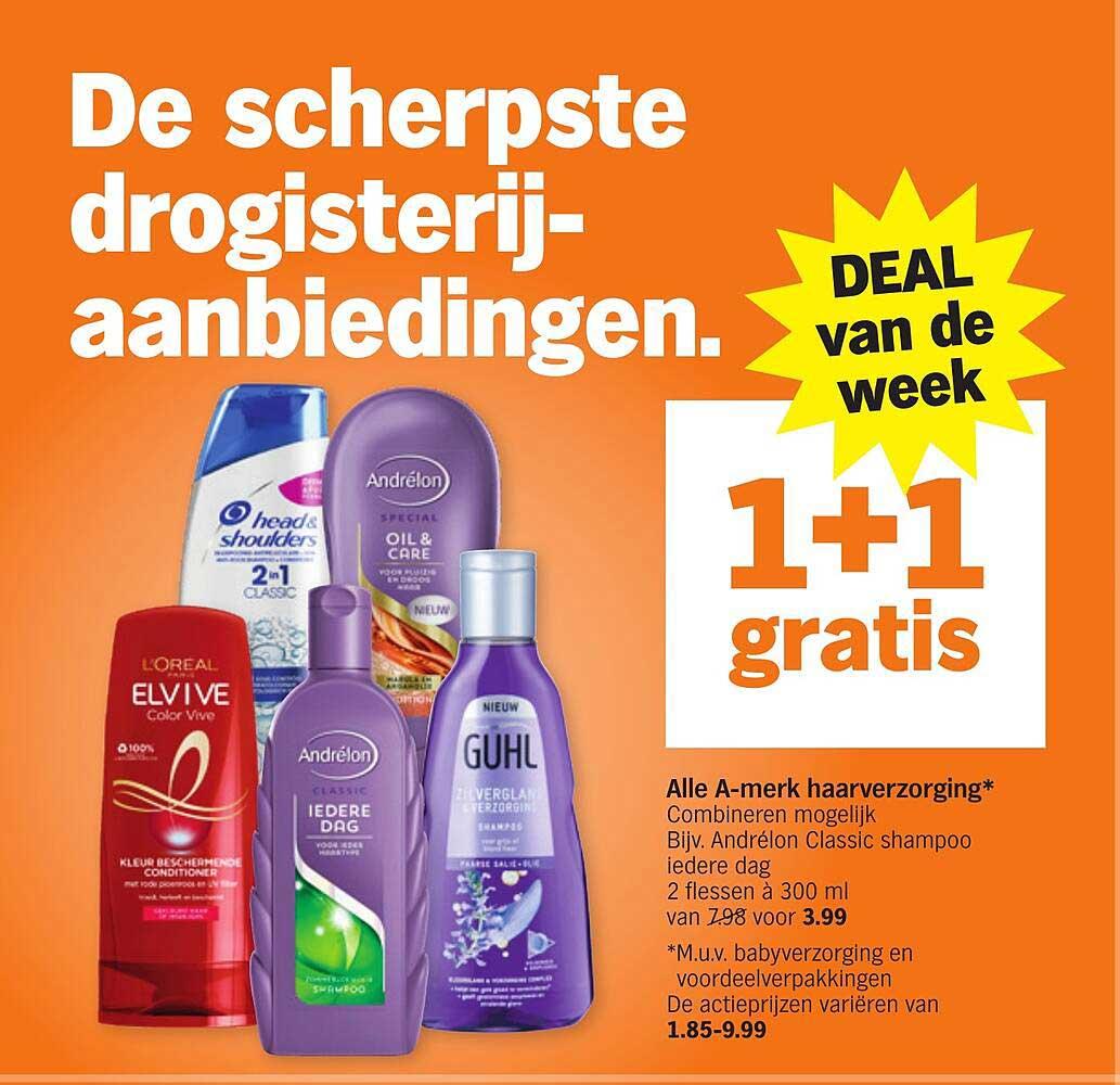 Albert Heijn Alle A-merk Haarverzorging 1+1 Gratis