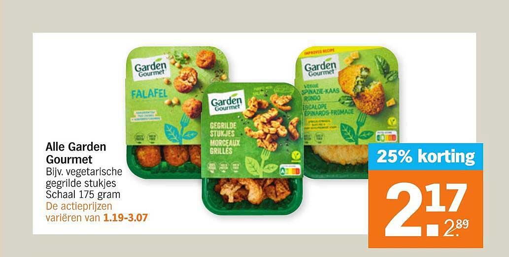 Albert Heijn Alle Garden Gourmet 25% Korting
