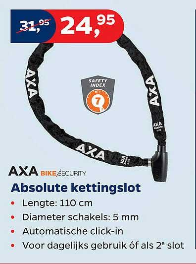 Bike Totaal Axa Bike Security Absolute Kettingslot